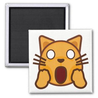 Wacky Cat Face Emoji Magnet