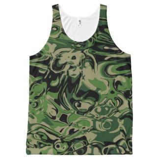 Wacky Green All-Over Print Tank Top