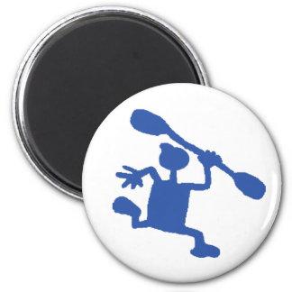 Wacky Kayak Paddler Magnet