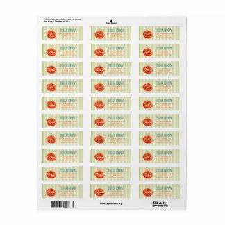 Wacky Pumpkin Return Address Labels