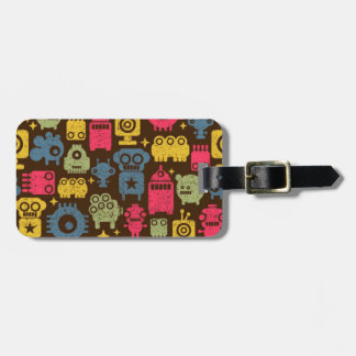 Wacky space creatures luggage tag