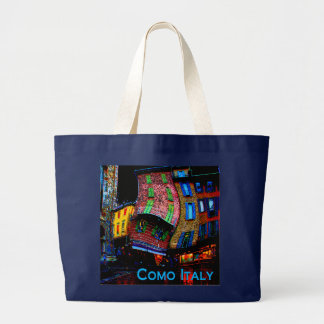 Wacky Travel Gifts - Como Italy Large Tote Bag