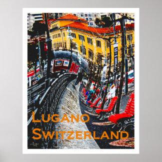 Wacky Travel Posters - Lugano Switzerland