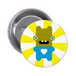 Wacky Wabbit Pinback Button