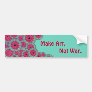 Wacky Watermelon Mandala Art not War Bumper Sticker