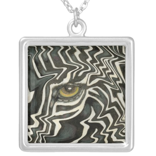 Wacky Zebra Eye Necklace