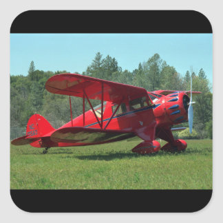 Waco, Cabin Standard, 1933_Classic Aviation Square Sticker