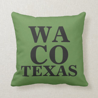 WACO TEXAS THROW PILLOW