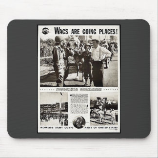 Wacs Are Going Places Mouse Pads