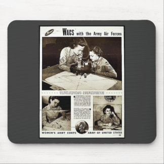 Wacs With The Army Air Forces Mouse Pads