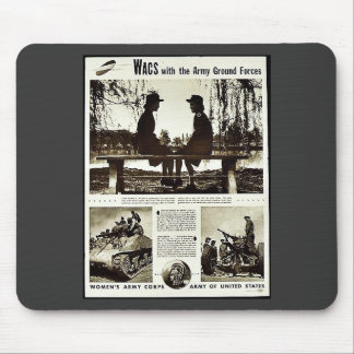 Wacs With The Army Ground Forces Mouse Pad