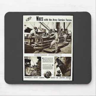 Wacs With The Army Service Forces Mouse Pad