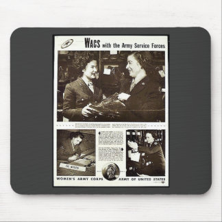 Wacs With The Army Service Forces Mousepads