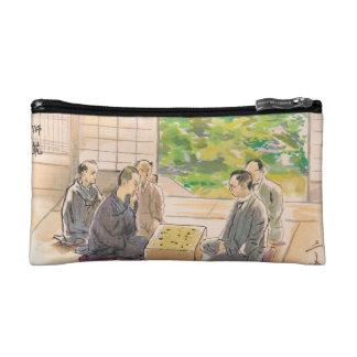 Wada Sanzo Playing Go ukiyo-e japanese fine art Makeup Bags