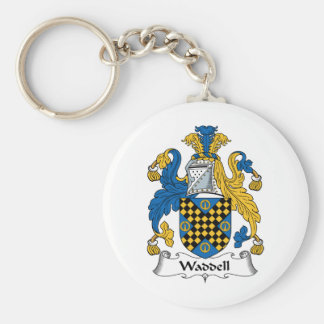 Waddell Family Crest Keychain