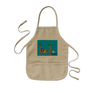 Waddles and Polar Bear Chilling Kids Apron