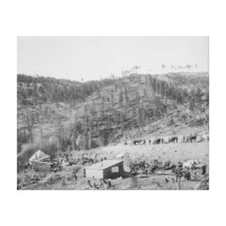 Wade and Jones Railroad Camp in Whitewood Canyon Canvas Print
