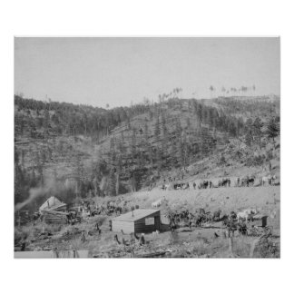 Wade and Jones Railroad Camp in Whitewood Canyon Print