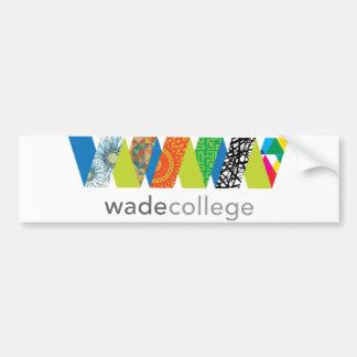 Wade College Bumper Sticker