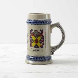 Wade Family Coat of Arms on a Stein