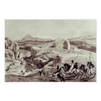Wadela Plateau engraved by J Ferguson Poster