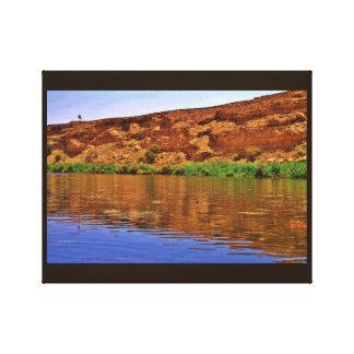 Wadi Namar Lake Canvas Print