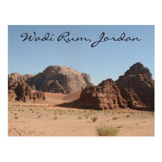 wadi rum jordan postcard