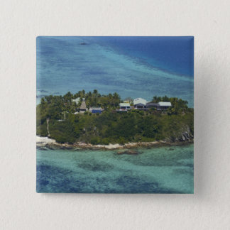Wadigi Island, Mamanuca Islands, Fiji 2 15 Cm Square Badge