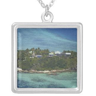 Wadigi Island, Mamanuca Islands, Fiji 2 Silver Plated Necklace