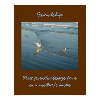 Wading Gulls Friendship Poster