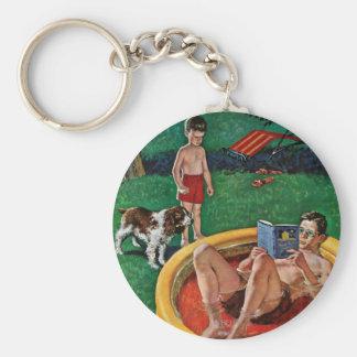 Wading Pool Basic Round Button Key Ring