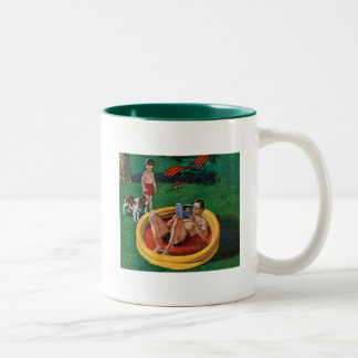 Wading Pool Two-Tone Coffee Mug