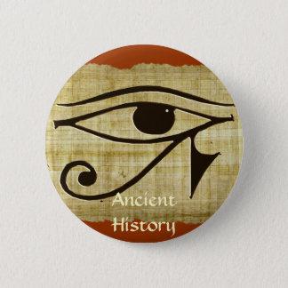 WADJET EYE OF HORUS on Papyrus Gift Series 6 Cm Round Badge