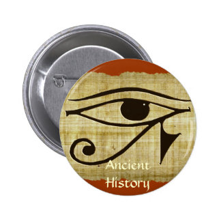 WADJET EYE OF HORUS on Papyrus Gift Series Pinback Button