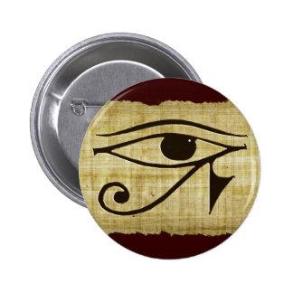 WADJET EYE OF HORUS on Papyrus Gifts 6 Cm Round Badge