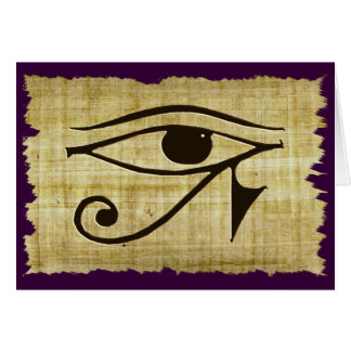 WADJET EYE OF HORUS on Papyrus Gifts Card