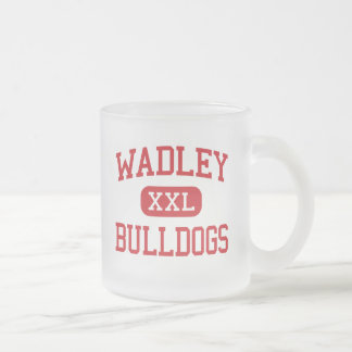 Wadley - Bulldogs - High School - Wadley Alabama Frosted Glass Coffee Mug