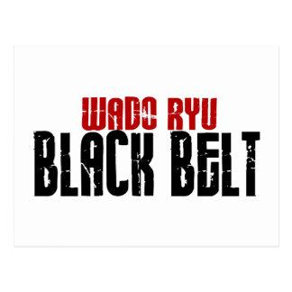 Wado Ryu Black Belt Karate Post Card