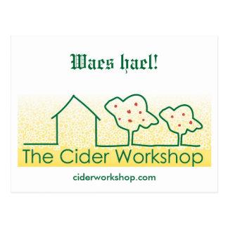 Waes hael - The Cider Workshop trad postcard