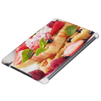 Waffle cake with fresh berry fruit case for iPad air