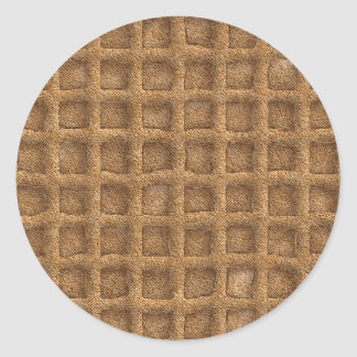 Waffle Cone Classic Round Sticker