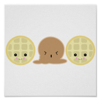 waffle ice cream sandwich poster