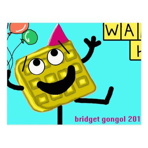 waffle joy postcards