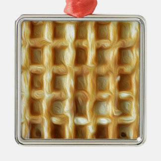Waffle oil paint effect christmas ornament