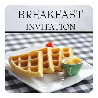 Waffle Plate Setting Breakfast Invitations