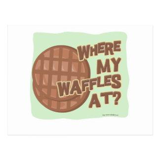 Waffle Shortage! Postcard