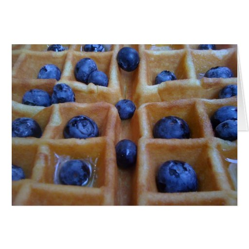 Waffle with Blueberries Greeting Card