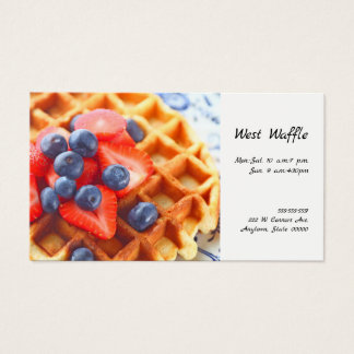 Waffle with fresh berries business card