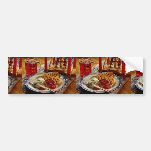 Waffles and beverage bumper stickers