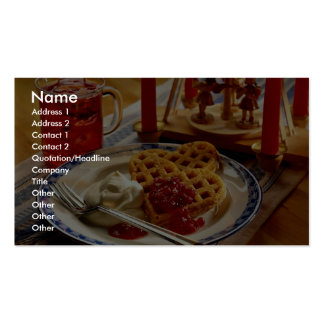 Waffles and beverage business card template